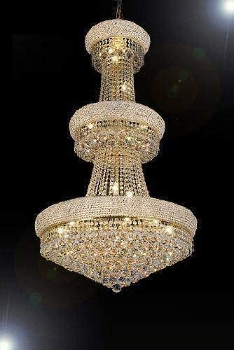 French Empire Crystal Chandelier Chandeliers H50 X W30 – Perfect for an Entryway or Foyer