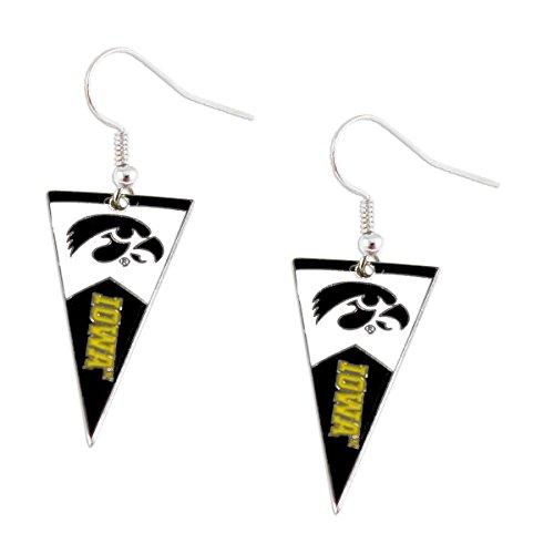 Iowa Hawkeyes Jewelry (NCAA Iowa Hawkeyes Pennant Dangle Earring)