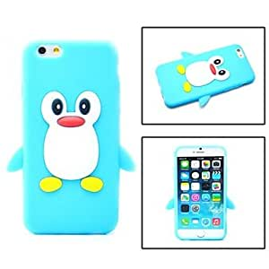 SHOUJIKE Cartoon Penguin Silicone Soft Case for iPhone 6 (Assorted Colors) , Black