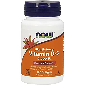 NOW Vitamin D-3 2,000 IU,120 Softgels
