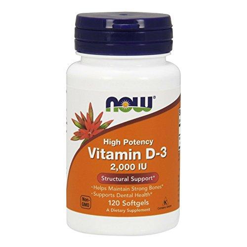 NOW Foods Vitamin D 3, 2,000 IU, 120 Softgels
