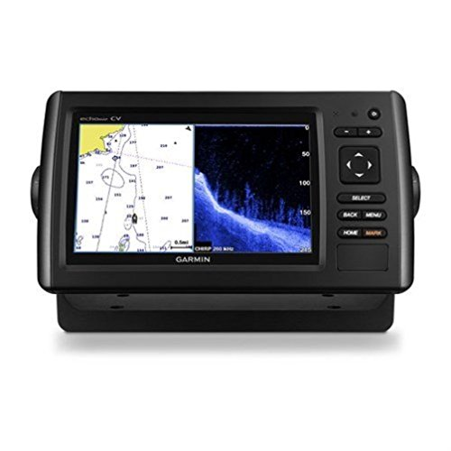 Garmin Echomap Chirp 74Cv with transducer, 010-01801-01 (Best Chartplotter Sounder Combo)