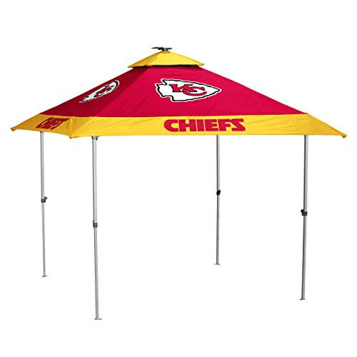 Logo Brands NFL Kansas City Chiefs Pagoda Tent Pagoda Tent, Red, One Size