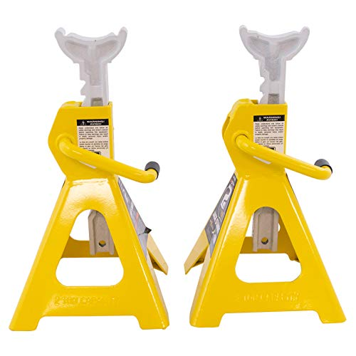 2 Ton Heavy Duty Ratchet Style Jack Stand Pair Set New
