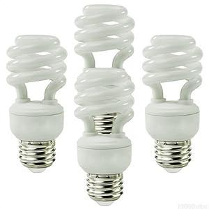 EcoSmart 14W 5000K Spiral CFL Light Bulb, Daylight (4-Pack)