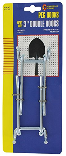 Convenience Concepts SC-173D Heavy Duty Double Straight Pegboard Hook