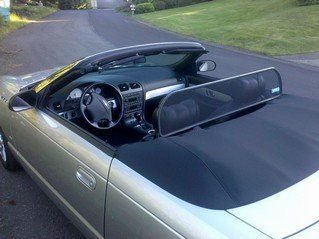 Love the Drive™ Ford Thunderbird Wind Deflector 2002, 2003, 2004, 2005, also know as Windscreen, Windstop