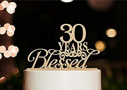 Amazon.com: [usa-sales] 30 años Blessed Decoración para ...