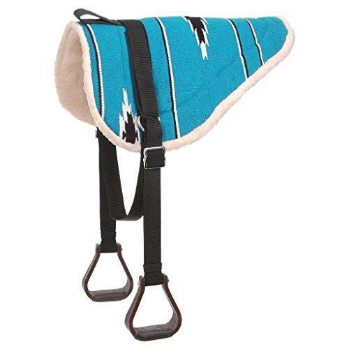 (Tough 1 Adult Navajo Bareback Pad, Teal/Black)
