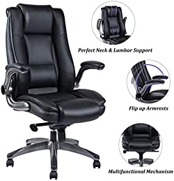 related image of REFICCER Office Chair High Back Leather Executive