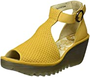 Fly London Yall Womens Yellow Wedge Sandals