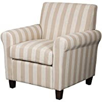 Denise Austin Home Siracusa Stripe Fabric Club Chair