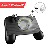 BAVST Mobile Game Controller for PUBG 4-in-1 Upgrade Version Gamepad Shoot and Aim Trigger Phone Cooling Pad Power Bank for Android & IOS Fortnite / Knives Out