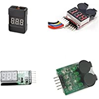 Batteries Low Voltage Alarm Battery Buzzer Indicator Li-Po Cell Checker Meter Power Testing Tools 4pcs