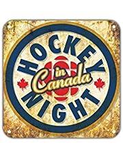 "Hockey Night in Canada Vintage Retro Metal Wall Decor Art Shop Man Cave Bar Garage Aluminum 12""x12"" Sign"