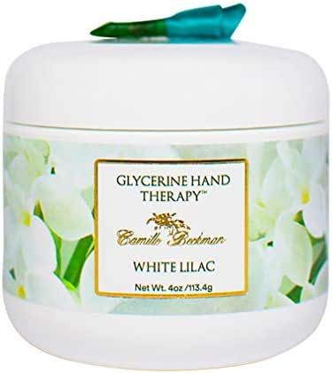 Camille Beckman Glycerine Hand Therapy Cream, White Lilac, 4 Ounce