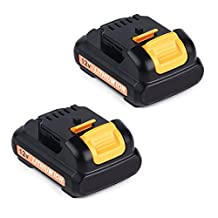 2x Masione 12V Max Lithium Battery for DeWat DCB120 DCB127 DCD710S2 DCK211S2 DCK413S2 12-volt Max Drill Driver