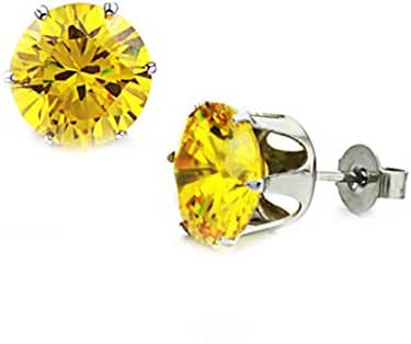 Yellow Swarovski Elements Crystal Hypoallergenic Earrings for Women
