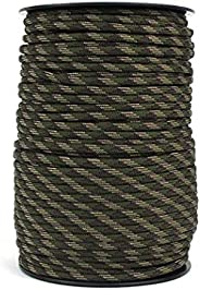Kimaru 9 Strand 550LB Strong Paracord 328 FT (100 Meters) 4mm Multipurpose Rope for Camping Trip, Tent Fixing