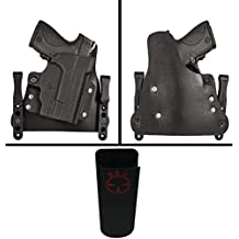 Ultimate Arms Gear Comp-Tac MERC Glock 43 and TLR6 Right Hand Hybrid Holster For Guns With Light + Belt Clip Pouch For Pistol Magazines, Flashlights, Knives, and Tools