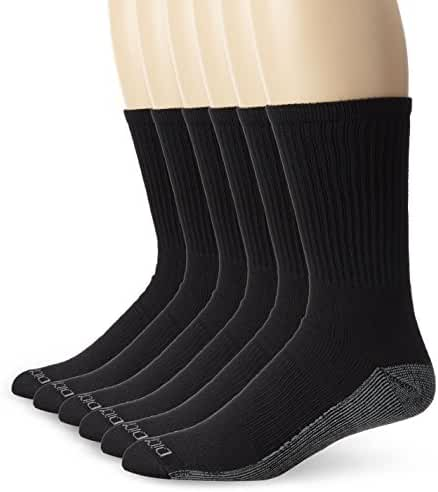 Dickies Men's 6 Pack Dri-Tech Comfort Crew Socks