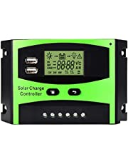 MOHOO Solar Charge Controller 30A 12V-24V Solar Panel Regulator Charge Controller LCD Display Solar Controller With USB for Home Industry Commercial Boat Car etc