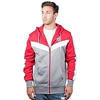 fan products of UNK NBA Men's Full Zip Hoodie Sweatshirt Jacket Contrast Back Cut, Team Logo Color