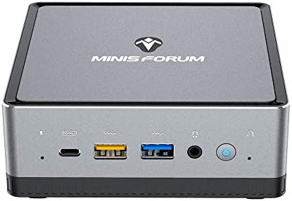 MINISFORUM DeskMini DMAF5 AMD NUC Mini PC; Ryzen 5 3550H CPU; Triple-Monitor Support, 8GB DDR4 RAM, 256GB NVMe SSD; Dual Gigabit Ethernet; WiFi 6; Bluetooth 5.1 [DMAF5-8/256]