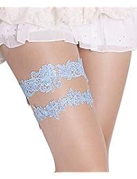50b6eddf3 Wedding Garters for Bride Garter Set for Bride Blue Wedding Garter Belts  Lace Bridal Garter 2