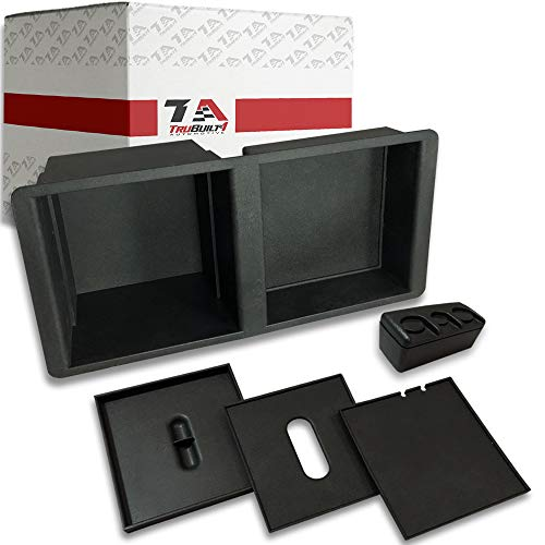 - T1A 2014-2018 Chevy Silverado and GMC Sierra Center Console Organizer, Also Fits 2015-2018 Chevy Suburban, Tahoe, Silverado, GMC Sierra, Yukon, Yukon XL 2500HD and 3500HD, Black Color, T1A-22817343
