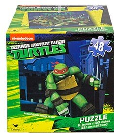 Kids Boys Hot SELLER Teenage Mutant Ninja Turtle 48 Piece Jigsaw Puzzle in a square Box TMNT