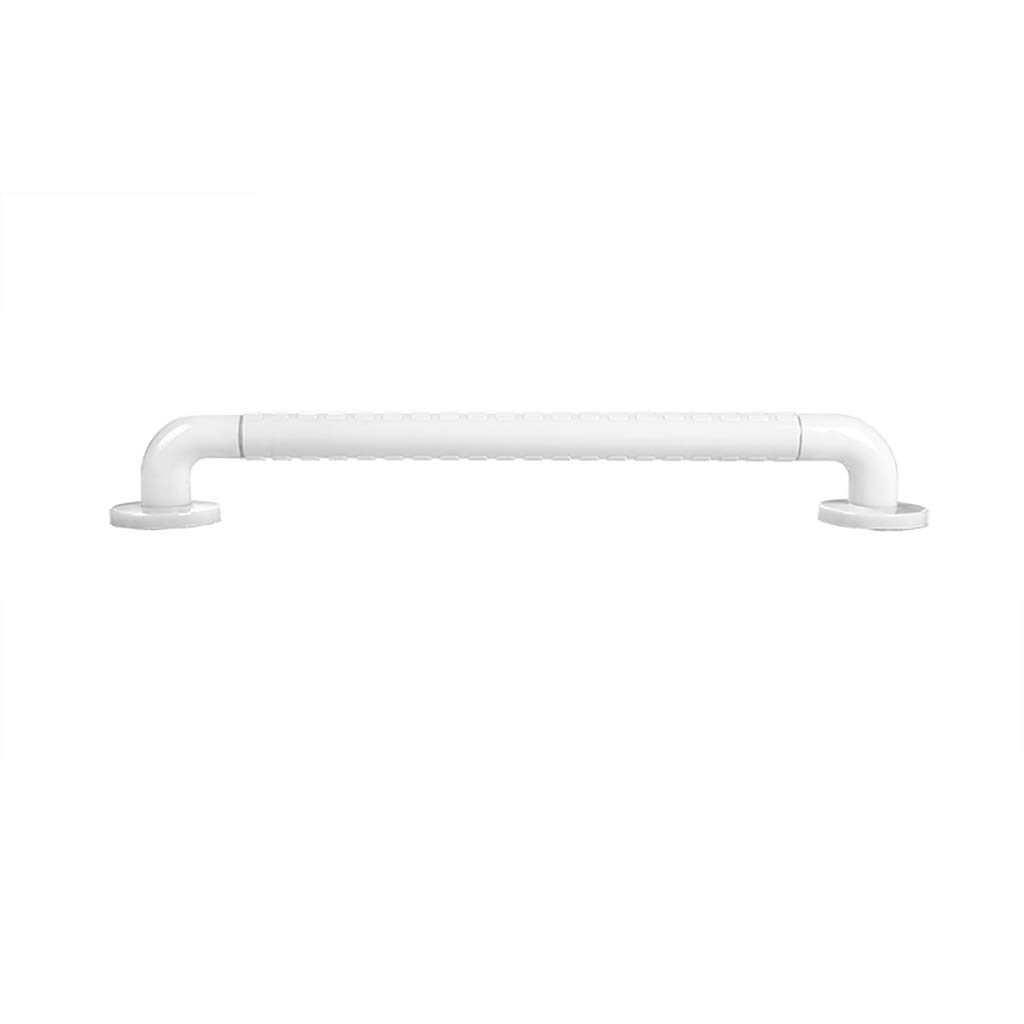 Bathroom Grab Bar, Stainless Steel Handrail, Safety Hand Rail Support, Safety Luminous Circles,Non Skid For Toddlers, Elderly, Seniors, Handicap, Disabled (Color : White, Size : 58)