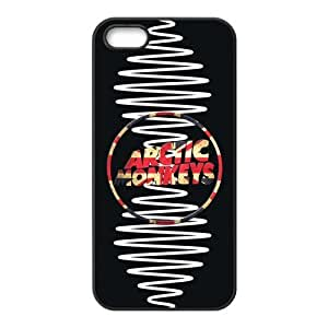 Personalized Snap-on TPU Rubber Coated Case Compatible with iPhone 5 / 5S Cases [AM Arctic Monkeys]