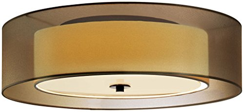 (Sonneman 6013.51F, Puri Round Flush Mount Ceiling Lighting, 2 Light Fluorescent, Black Brass)
