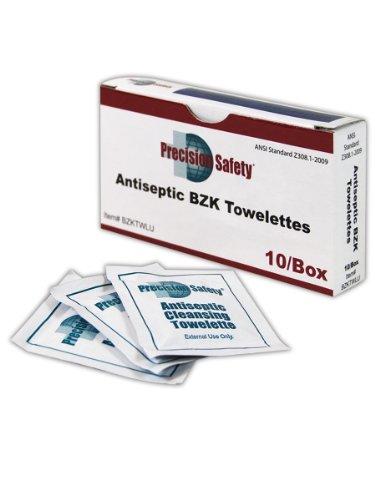 (Magid BZKTWLU Precision Safety BZK Antiseptic Towelettes, 8