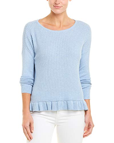 Lilla P Ruffle Hem Boat Neck Sweater Glass SM
