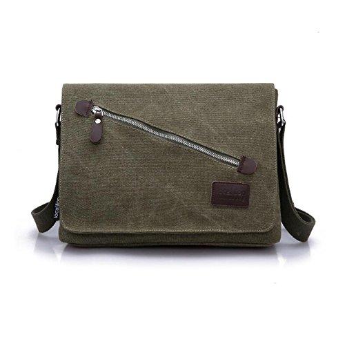 Wmshpeds Bolso de Hombro de lona masculino Bolso Messenger bag bolso multifunción E