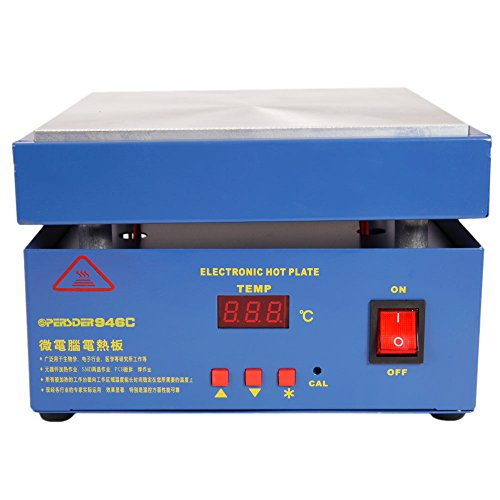 High Precision Digital Display Constant Temperature Electronic Hot Plate Preheat Preheating Station 20020020mm 110V 800W (Electronic Temperature)