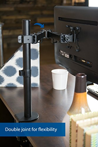 VIVO Full Motion Single VESA Computer Monitor Desk Mount Stand with Articulating Double Center Arm Joint   for 13'' to 32'' Screens (STAND-V101) by VIVO (Image #6)