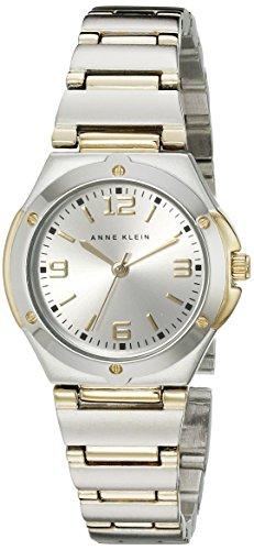 Anne Klein Women's 108655SVTT Two Tone Round Dress Watch (Tone Dial Silver Two Dress)