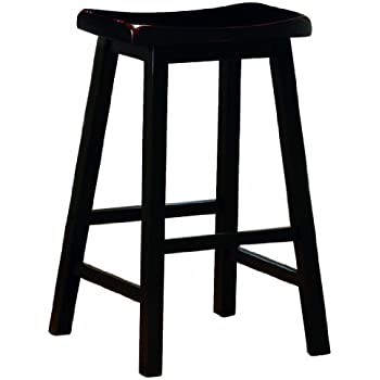 Amazon Com Coaster 24 Inch Dining Barstool Black Set Of