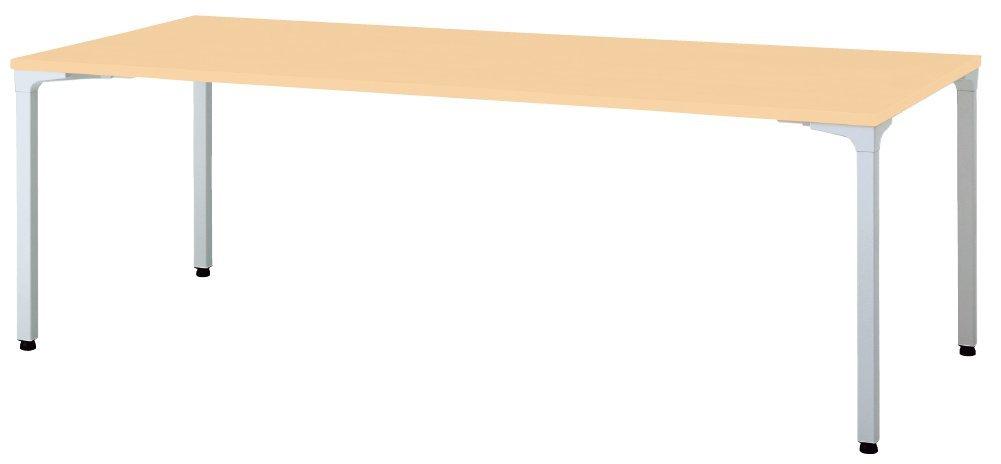 プラス ロンナ 会議テーブル 正方形 キャスター脚 NN-0909PKS 天板ホワイト/脚ホワイト B073Q1NW3H W900xD900 天板:ホワイト/脚:ホワイト 4本脚キャスタータイプ 天板:ホワイト/脚:ホワイト W900xD900
