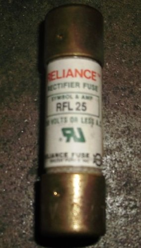 Rfl Plug (Reliance RFL-25 Rectifier Fuse 25amp 750VAC)