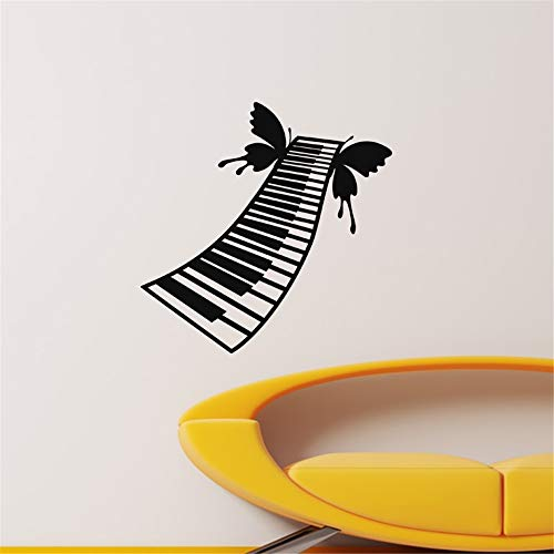 quleisw Quote Wall Decal Sticker Nursery Vinyl Saying Lettering Wall Art Inspirational Wall Decor Piano and Butterfly for Living Room Bedroom Music Room