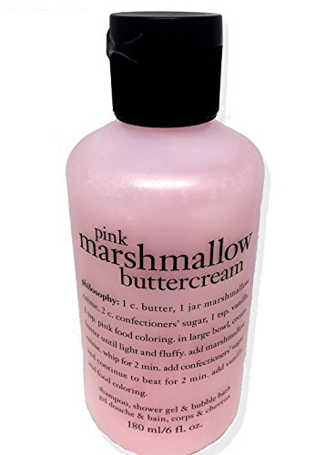 Philosophy Pink Marshmallow Buttercream Shampoo, Shower Gel & Bubble Bath 6 Oz.