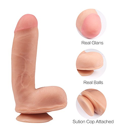 Wildfire Realistic Ultra-soft Dildo with Suction Cup Cyberskin Lifesize Penis Dong for Female Masturbation