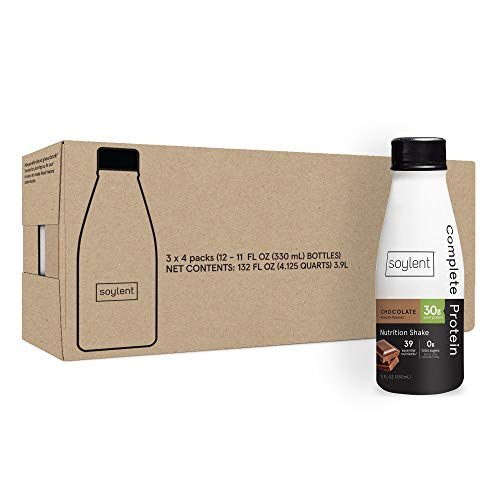 Soylent Complete Protein Gluten-Free Vegan Protein Meal Replacement Shake, Chocolate, 11 Oz, 12 Pack 4