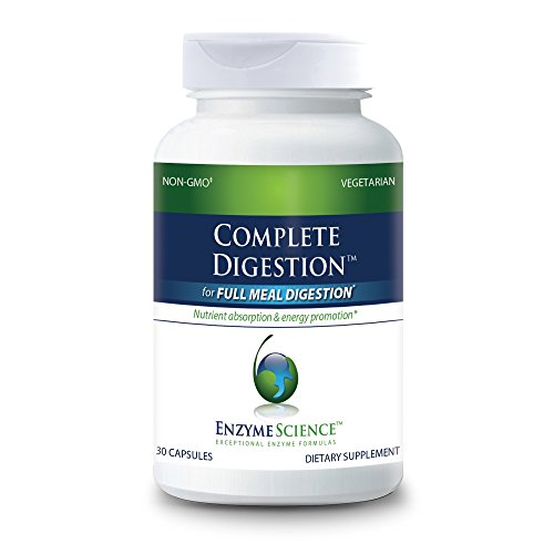 Enzyme Science - Complete Digestion, Full Support for Digestive Health and Help Reducing Gas, Bloating, Indigestion, and Irregularity with 125 Billion CFU Probiotics, Vegetarian, 30 Capsules (FFP)