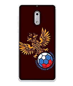ColorKing Football Russia 19 Red shell case cover for Nokia 6