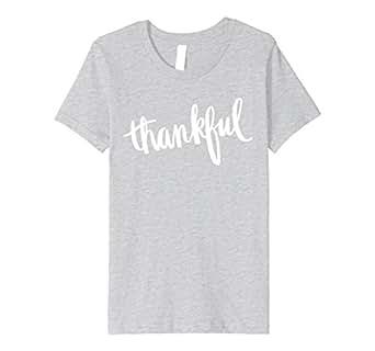 Kids Thankful Tshirt Thanksgiving Tee 4 Heather Grey